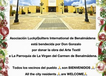 For the first time in history of Spain the work of quilters will put out forever in a Catholic Church